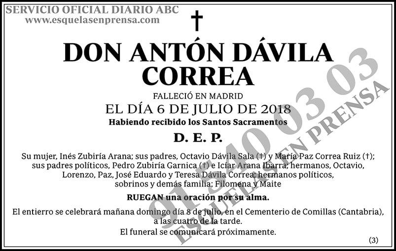 Antón Dávila Correa